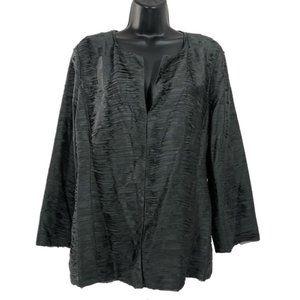 Eileen Fisher Ripple Bindu Silk Jacket Graphite